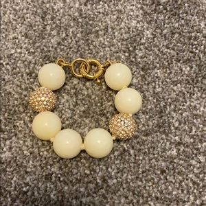 JCrew large beaded bracelet with page accents
